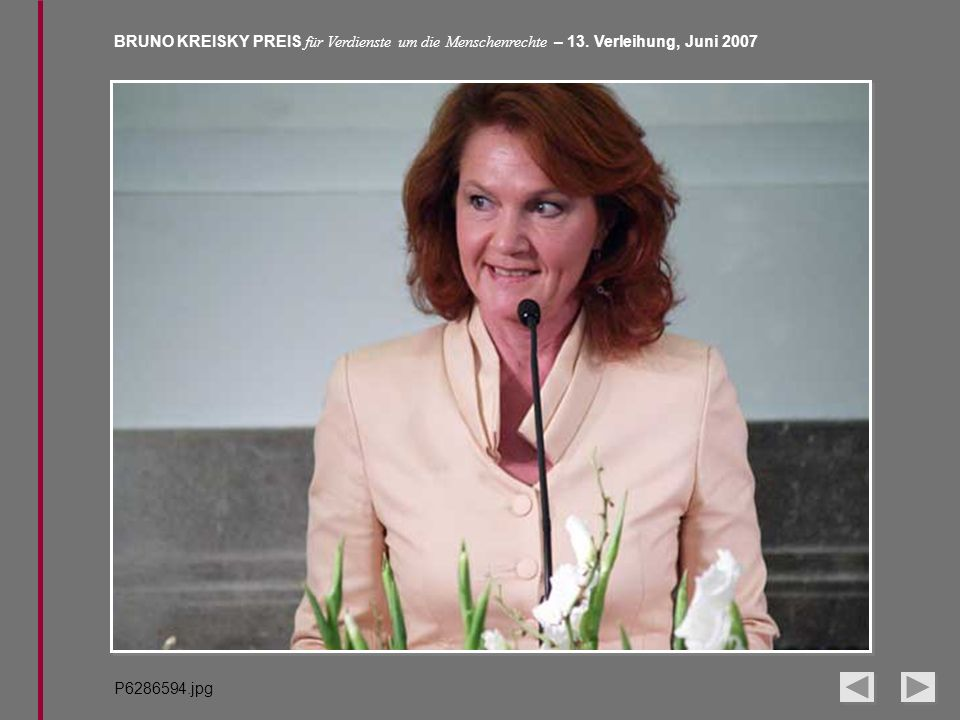 BRUNO KREISKY PREIS für Verdienste um die Menschenrechte – 13. Verleihung, Juni 2007 P6286594.jpg