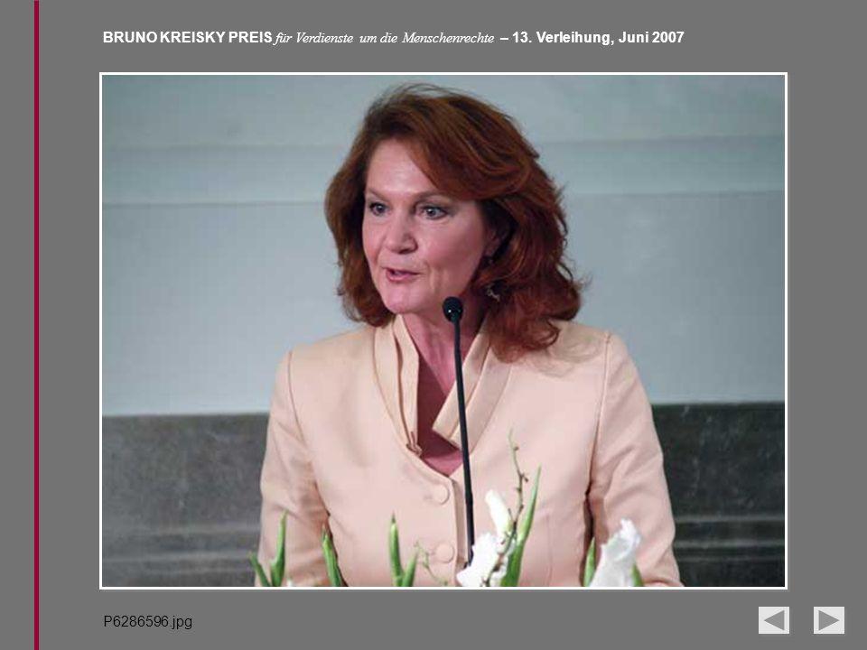 BRUNO KREISKY PREIS für Verdienste um die Menschenrechte – 13. Verleihung, Juni 2007 P6286596.jpg