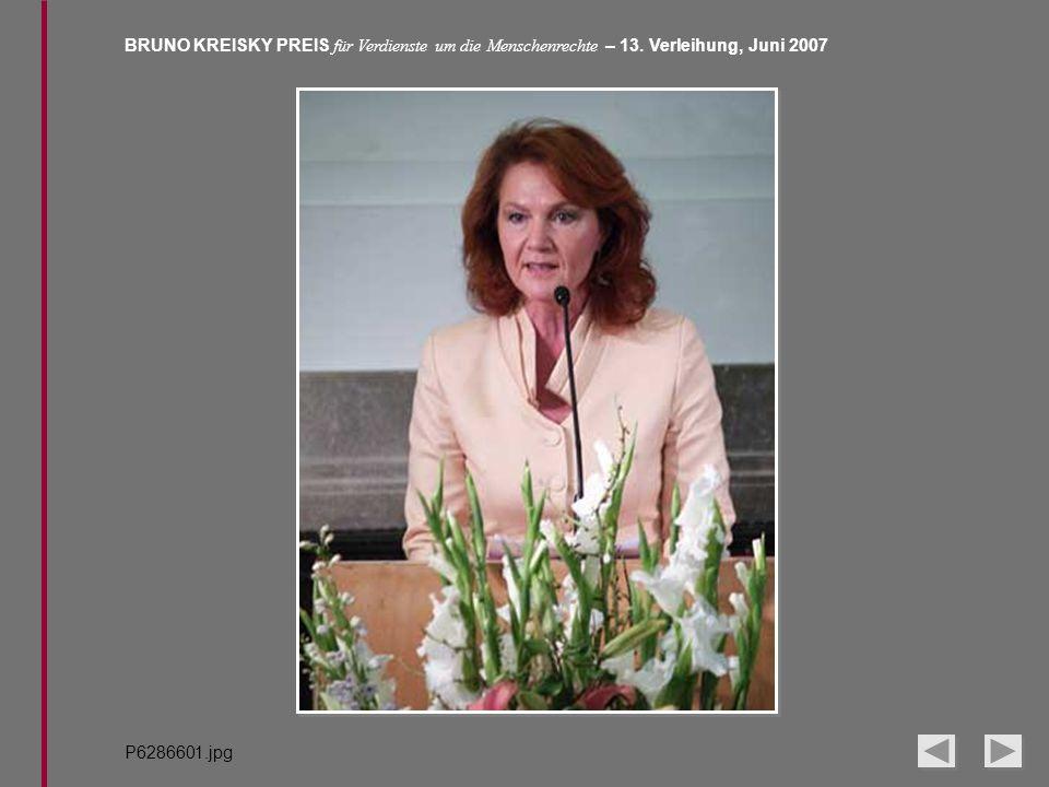BRUNO KREISKY PREIS für Verdienste um die Menschenrechte – 13. Verleihung, Juni 2007 P6286601.jpg
