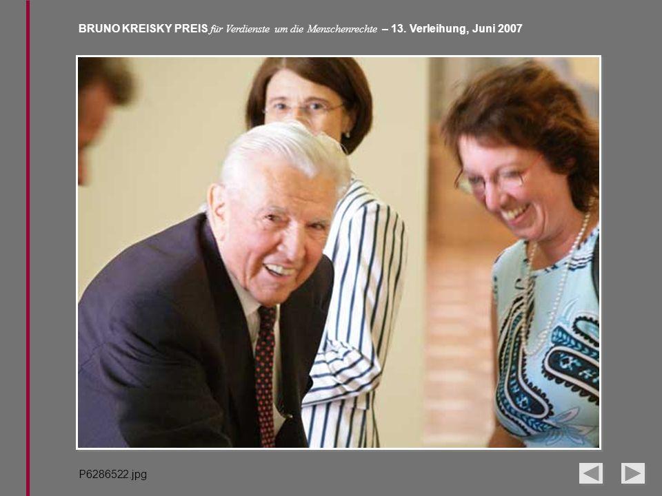 BRUNO KREISKY PREIS für Verdienste um die Menschenrechte – 13. Verleihung, Juni 2007 P6286522.jpg