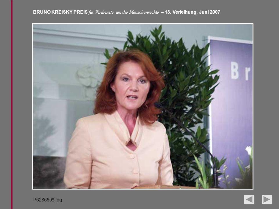 BRUNO KREISKY PREIS für Verdienste um die Menschenrechte – 13. Verleihung, Juni 2007 P6286608.jpg