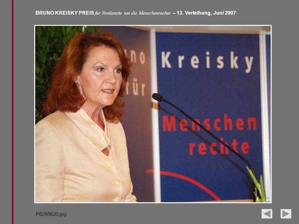 BRUNO KREISKY PREIS für Verdienste um die Menschenrechte – 13. Verleihung, Juni 2007 P6286620.jpg