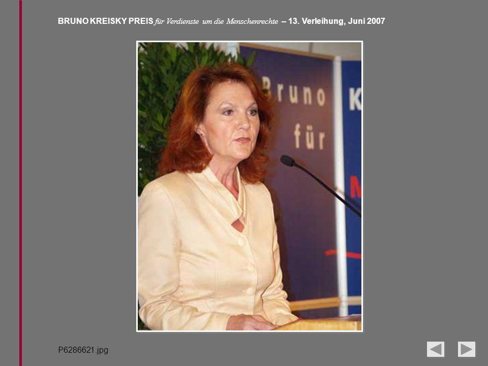 BRUNO KREISKY PREIS für Verdienste um die Menschenrechte – 13. Verleihung, Juni 2007 P6286621.jpg