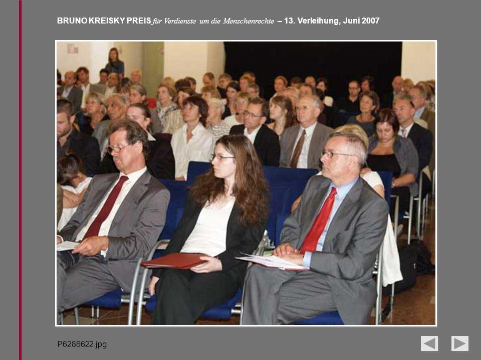 BRUNO KREISKY PREIS für Verdienste um die Menschenrechte – 13. Verleihung, Juni 2007 P6286622.jpg
