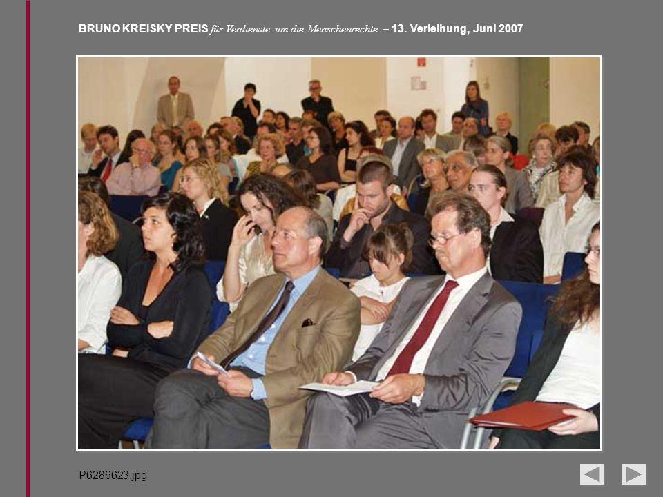 BRUNO KREISKY PREIS für Verdienste um die Menschenrechte – 13. Verleihung, Juni 2007 P6286623.jpg