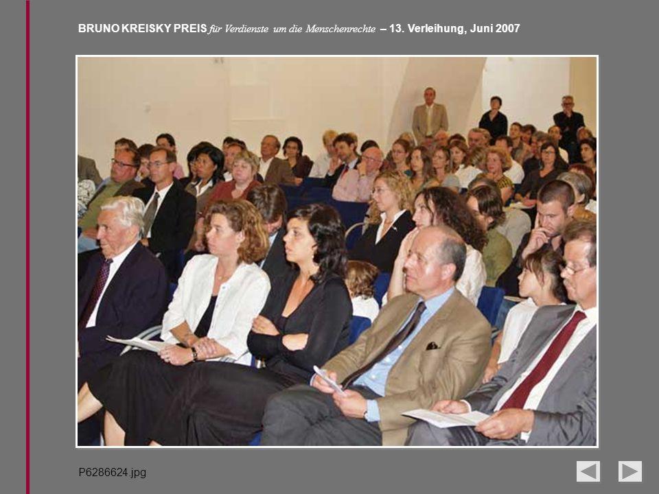 BRUNO KREISKY PREIS für Verdienste um die Menschenrechte – 13. Verleihung, Juni 2007 P6286624.jpg