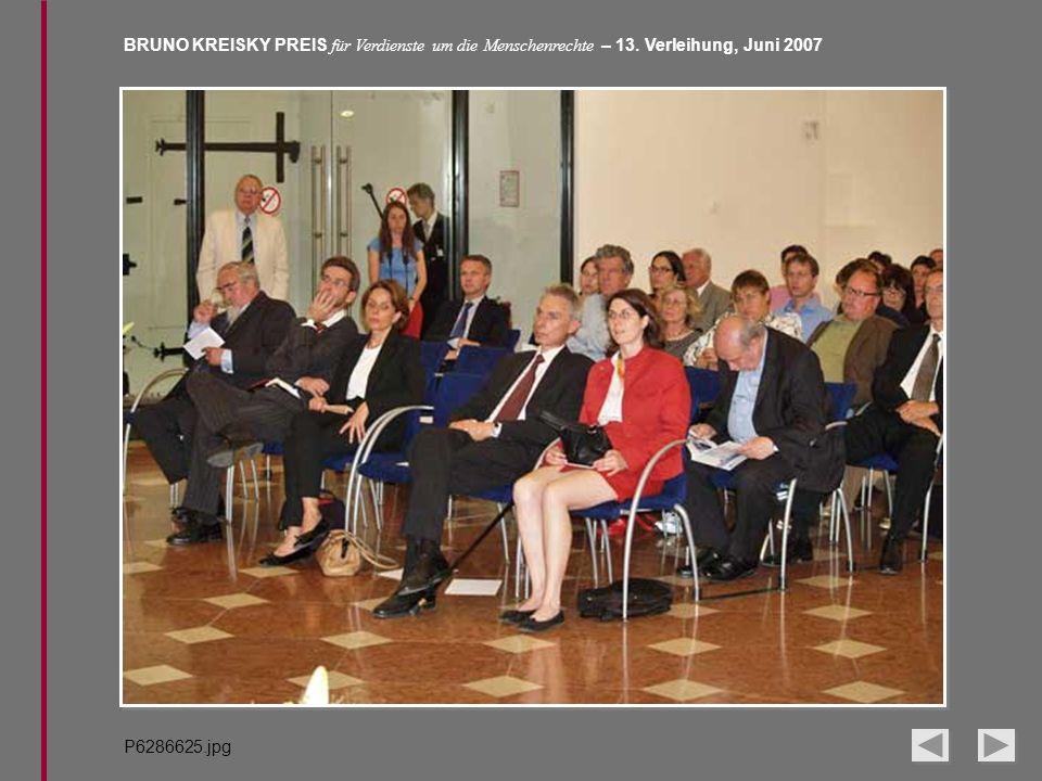 BRUNO KREISKY PREIS für Verdienste um die Menschenrechte – 13. Verleihung, Juni 2007 P6286625.jpg