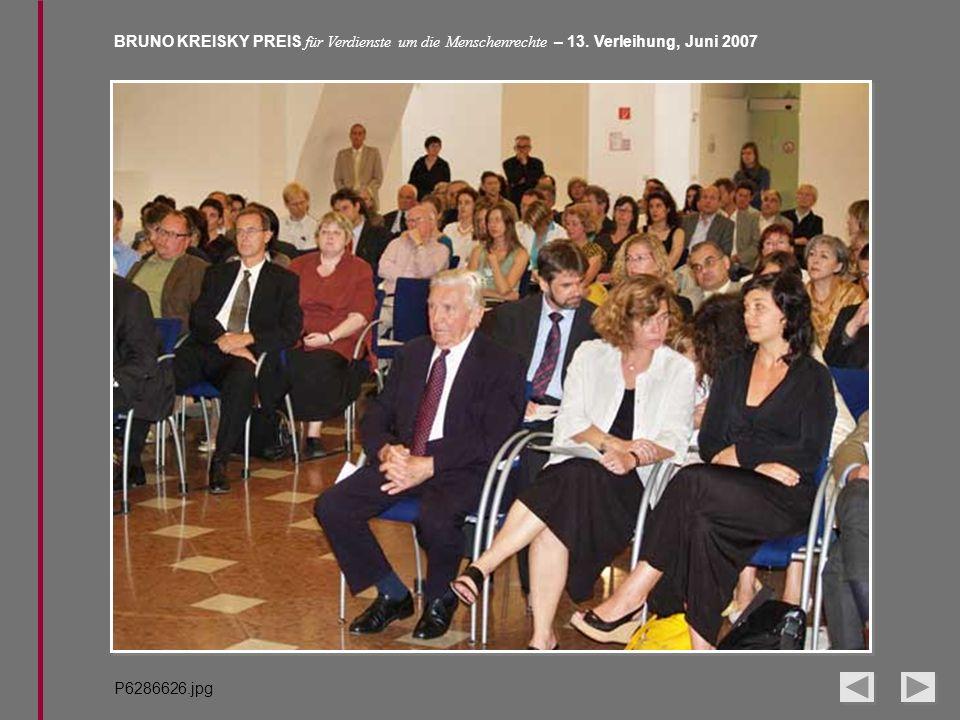 BRUNO KREISKY PREIS für Verdienste um die Menschenrechte – 13. Verleihung, Juni 2007 P6286626.jpg