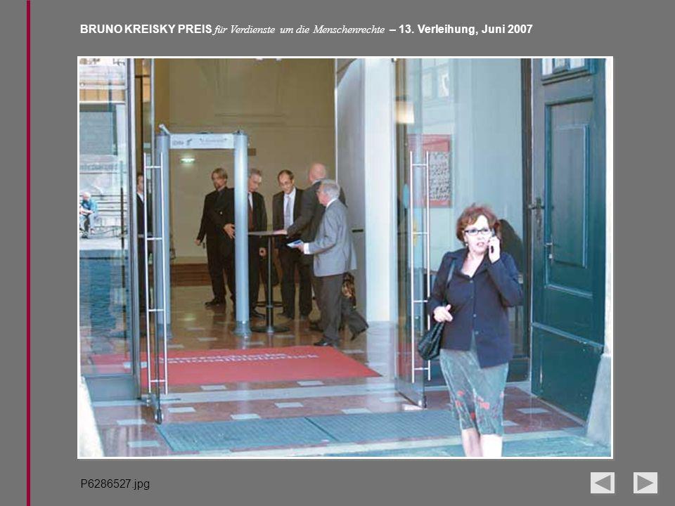 BRUNO KREISKY PREIS für Verdienste um die Menschenrechte – 13. Verleihung, Juni 2007 P6286527.jpg