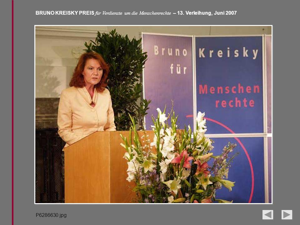 BRUNO KREISKY PREIS für Verdienste um die Menschenrechte – 13. Verleihung, Juni 2007 P6286630.jpg