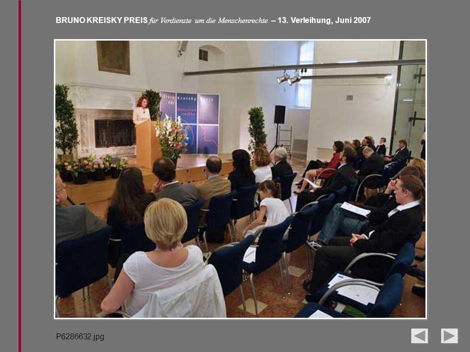 BRUNO KREISKY PREIS für Verdienste um die Menschenrechte – 13. Verleihung, Juni 2007 P6286632.jpg