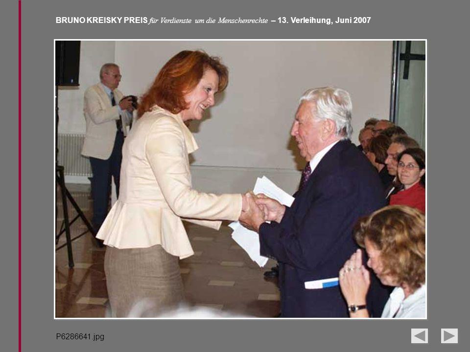 BRUNO KREISKY PREIS für Verdienste um die Menschenrechte – 13. Verleihung, Juni 2007 P6286641.jpg