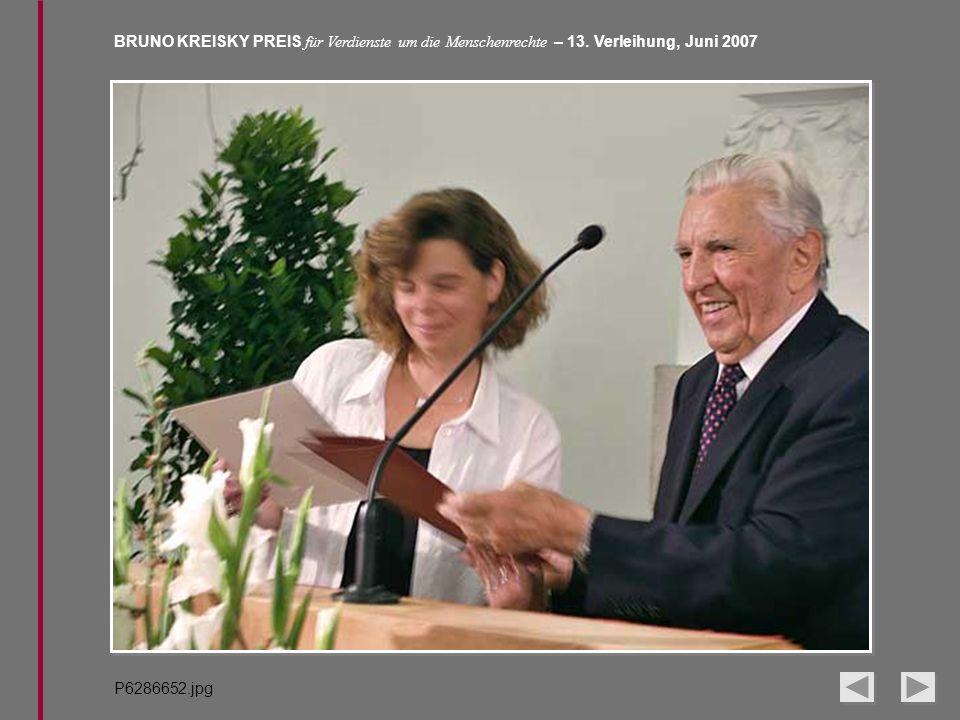 BRUNO KREISKY PREIS für Verdienste um die Menschenrechte – 13. Verleihung, Juni 2007 P6286652.jpg
