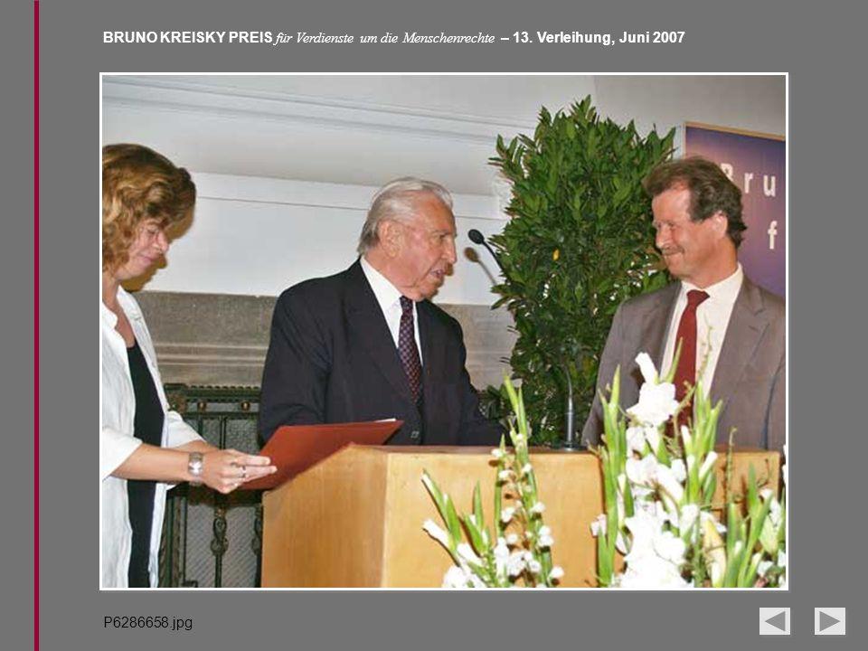 BRUNO KREISKY PREIS für Verdienste um die Menschenrechte – 13. Verleihung, Juni 2007 P6286658.jpg