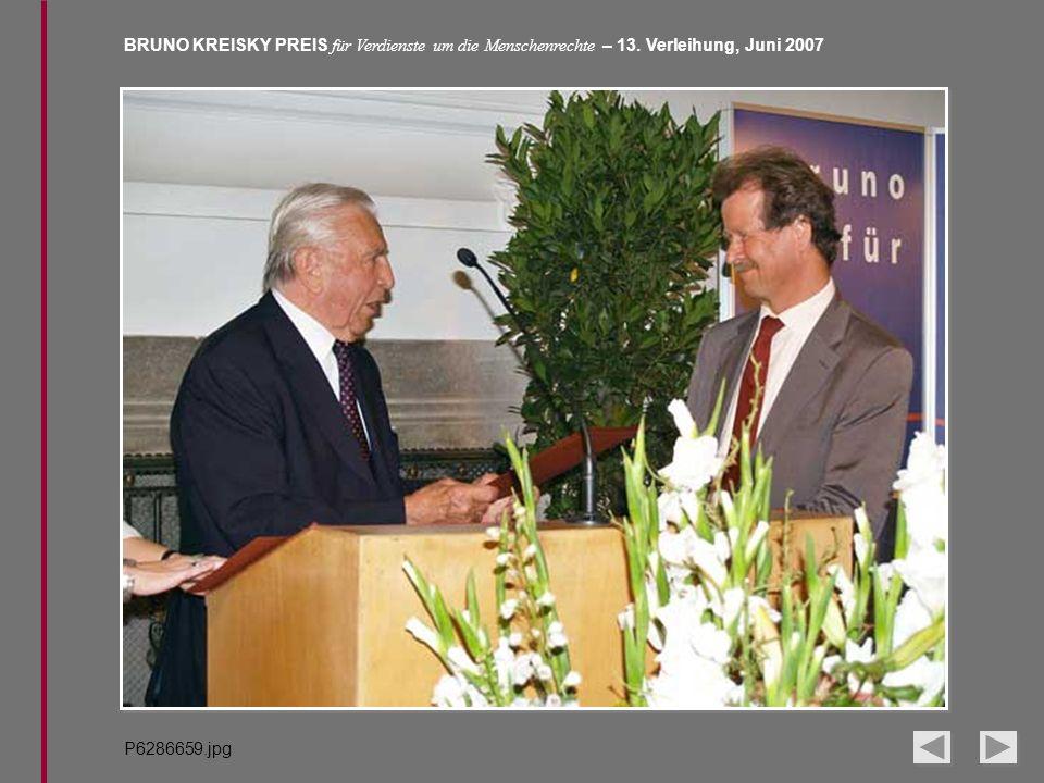 BRUNO KREISKY PREIS für Verdienste um die Menschenrechte – 13. Verleihung, Juni 2007 P6286659.jpg