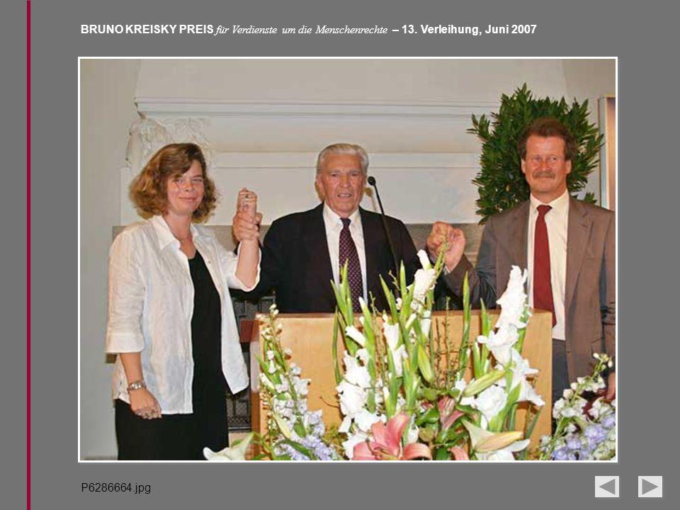 BRUNO KREISKY PREIS für Verdienste um die Menschenrechte – 13. Verleihung, Juni 2007 P6286664.jpg