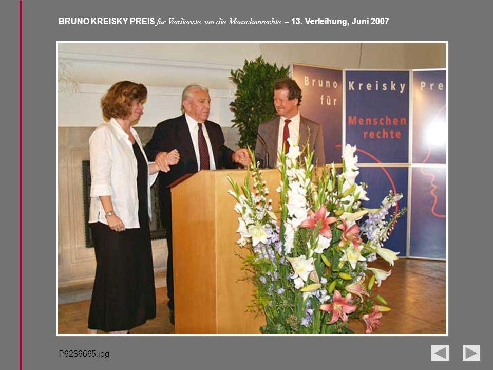 BRUNO KREISKY PREIS für Verdienste um die Menschenrechte – 13. Verleihung, Juni 2007 P6286665.jpg