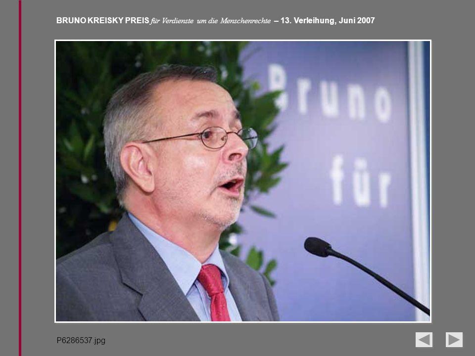 BRUNO KREISKY PREIS für Verdienste um die Menschenrechte – 13. Verleihung, Juni 2007 P6286537.jpg