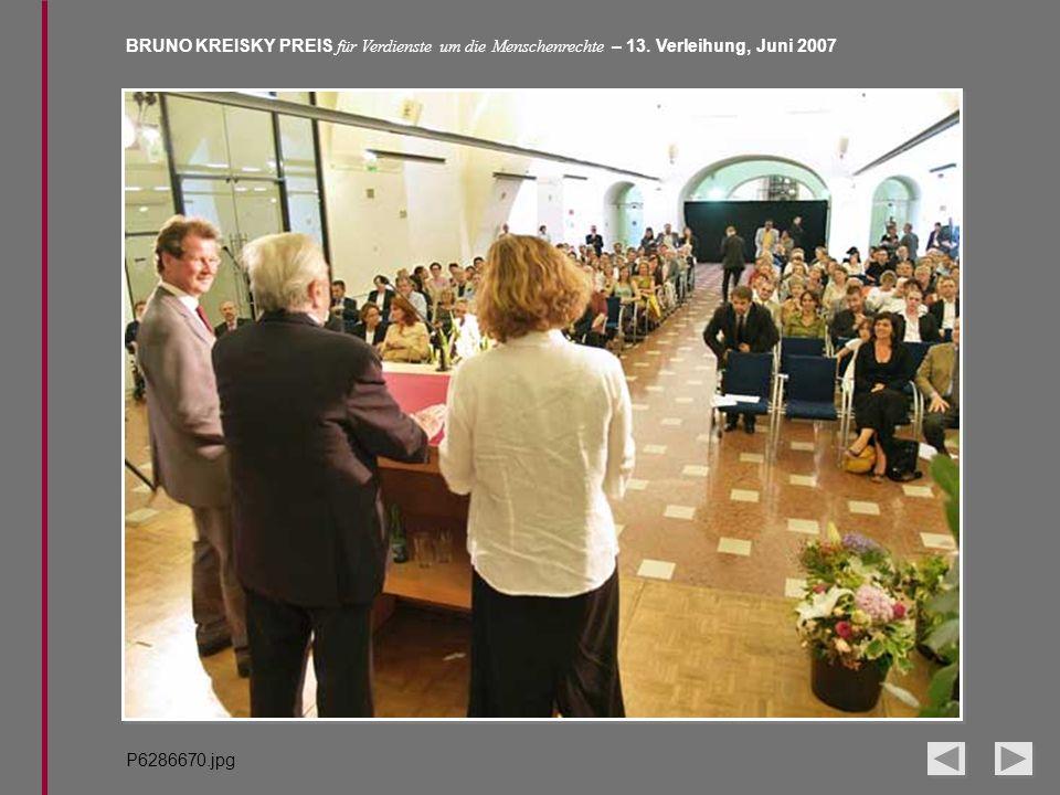 BRUNO KREISKY PREIS für Verdienste um die Menschenrechte – 13. Verleihung, Juni 2007 P6286670.jpg
