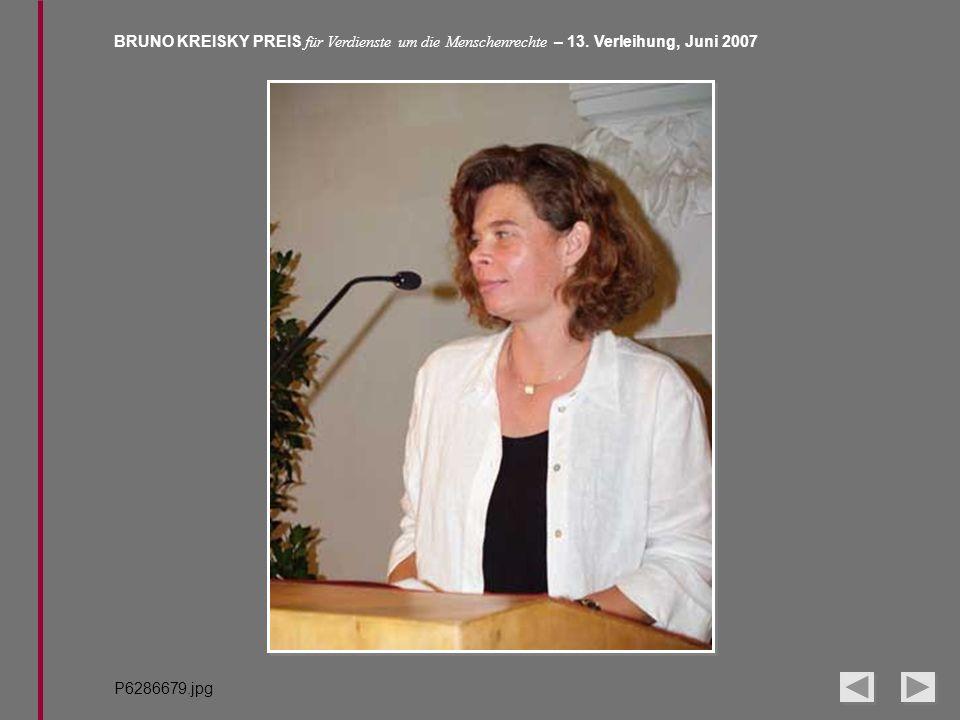BRUNO KREISKY PREIS für Verdienste um die Menschenrechte – 13. Verleihung, Juni 2007 P6286679.jpg
