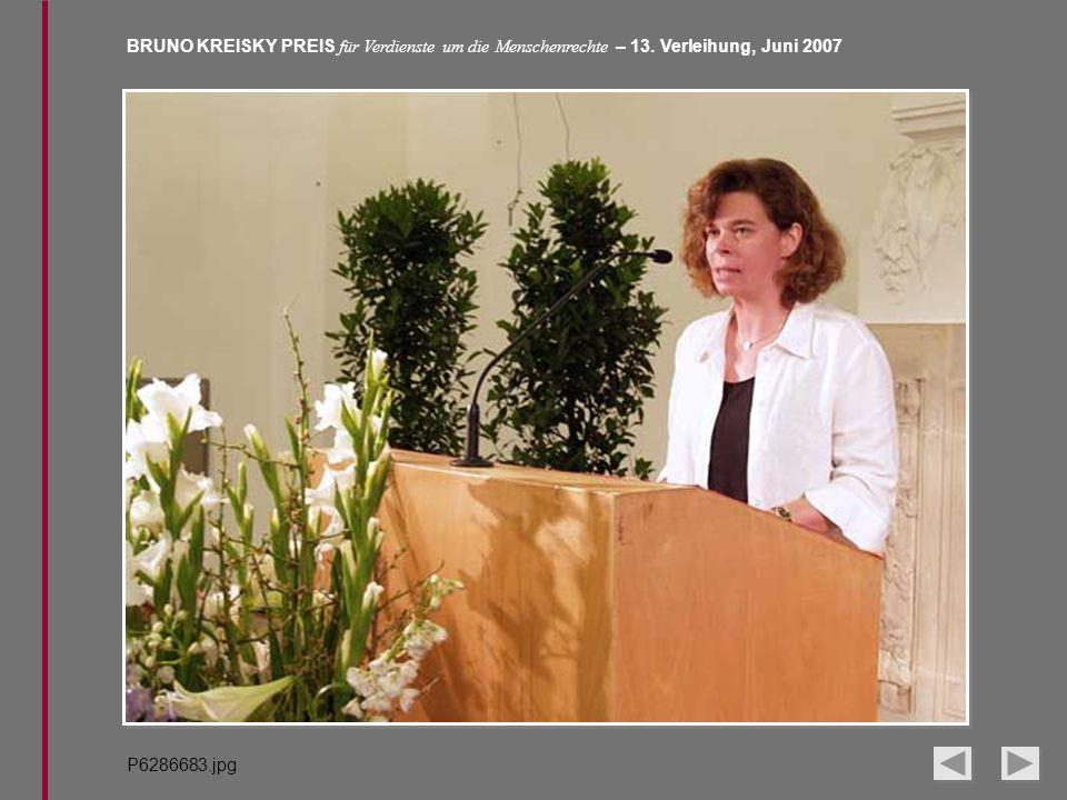 BRUNO KREISKY PREIS für Verdienste um die Menschenrechte – 13. Verleihung, Juni 2007 P6286683.jpg