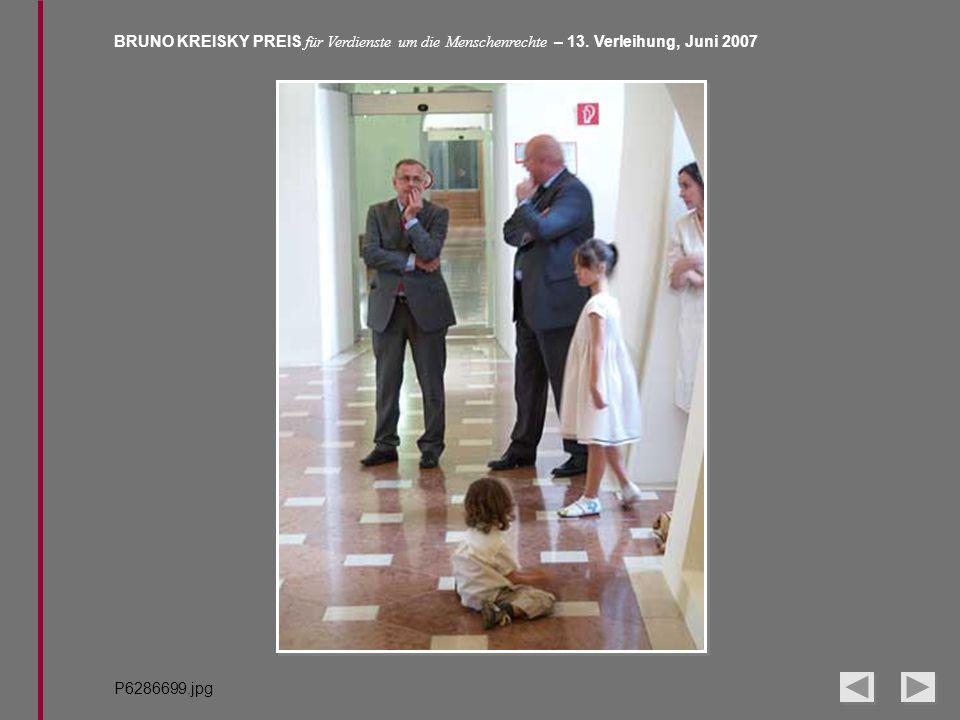 BRUNO KREISKY PREIS für Verdienste um die Menschenrechte – 13. Verleihung, Juni 2007 P6286699.jpg