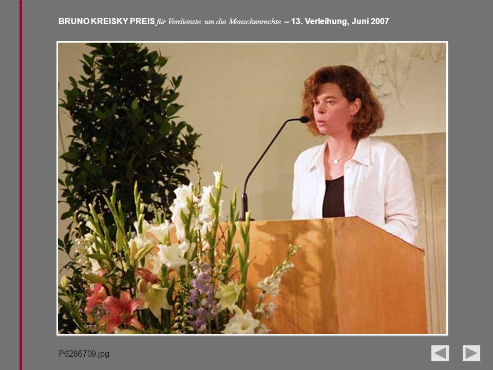 BRUNO KREISKY PREIS für Verdienste um die Menschenrechte – 13. Verleihung, Juni 2007 P6286709.jpg