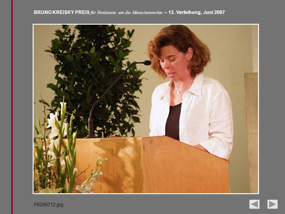 BRUNO KREISKY PREIS für Verdienste um die Menschenrechte – 13. Verleihung, Juni 2007 P6286712.jpg