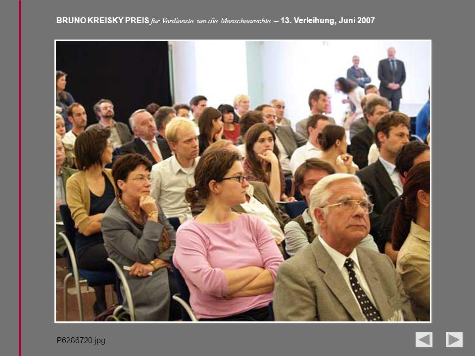 BRUNO KREISKY PREIS für Verdienste um die Menschenrechte – 13. Verleihung, Juni 2007 P6286720.jpg