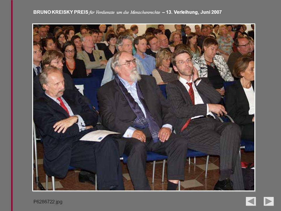 BRUNO KREISKY PREIS für Verdienste um die Menschenrechte – 13. Verleihung, Juni 2007 P6286722.jpg