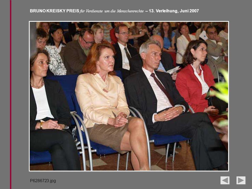 BRUNO KREISKY PREIS für Verdienste um die Menschenrechte – 13. Verleihung, Juni 2007 P6286723.jpg
