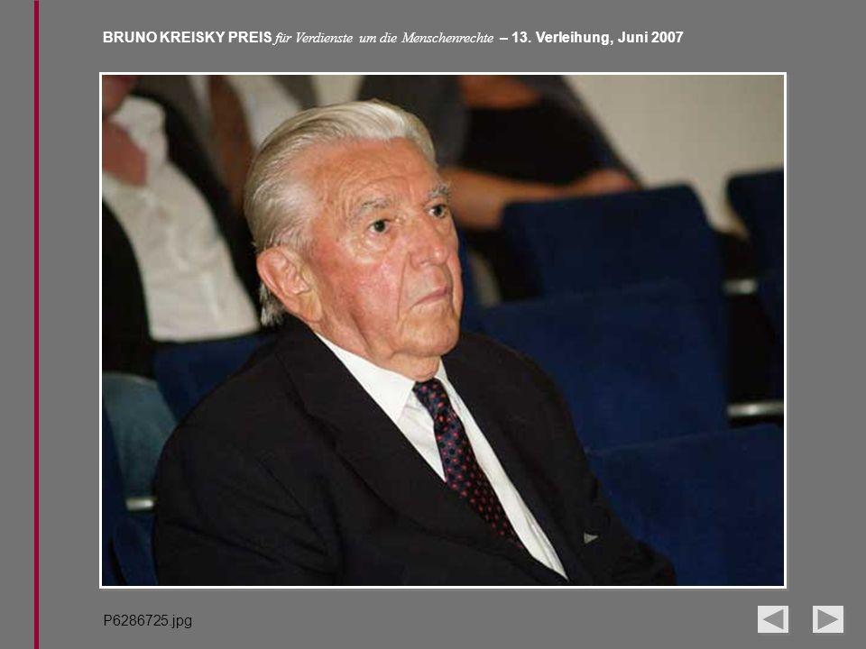 BRUNO KREISKY PREIS für Verdienste um die Menschenrechte – 13. Verleihung, Juni 2007 P6286725.jpg