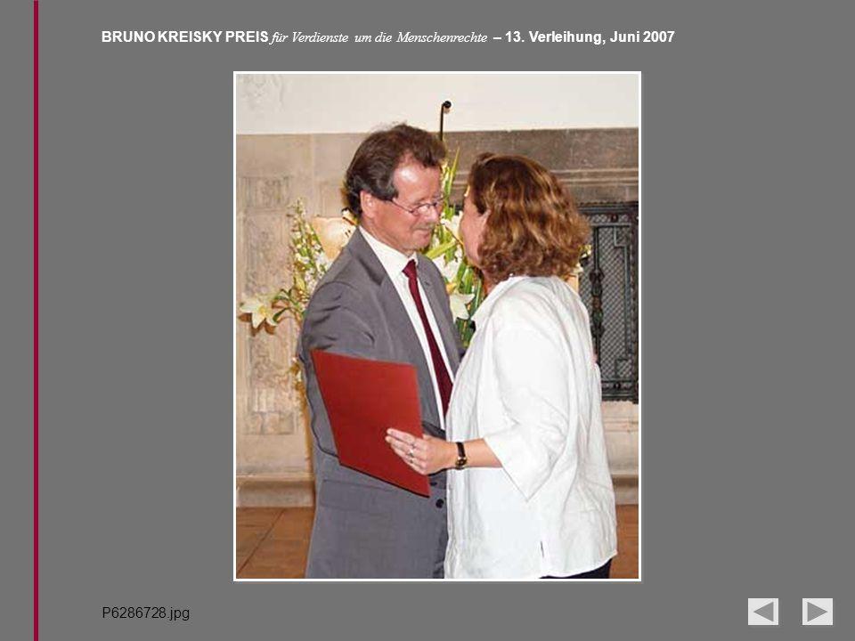 BRUNO KREISKY PREIS für Verdienste um die Menschenrechte – 13. Verleihung, Juni 2007 P6286728.jpg