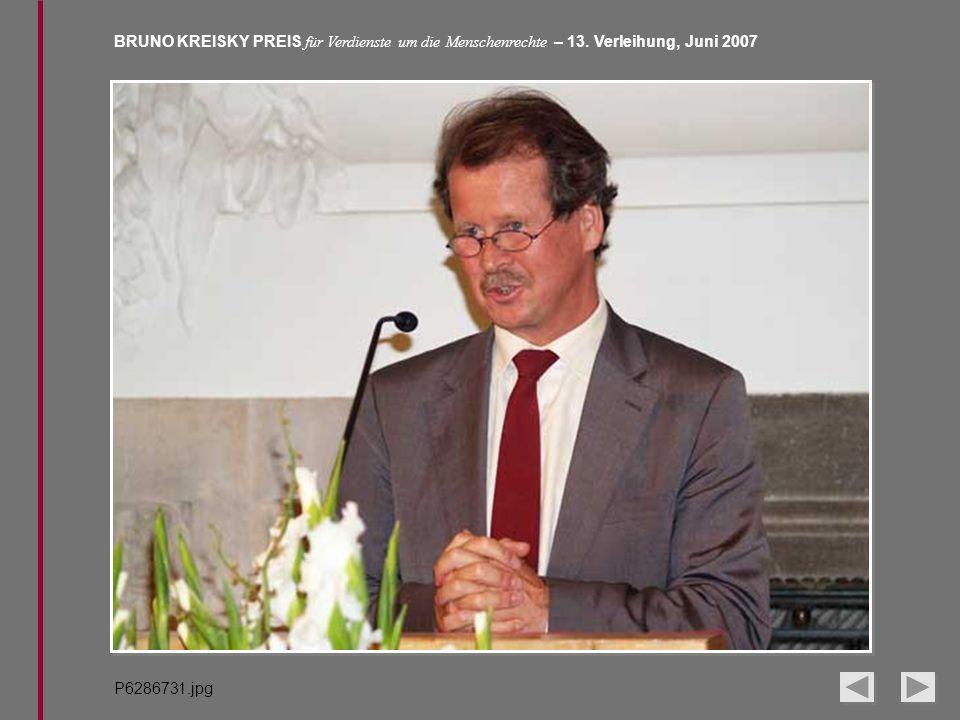 BRUNO KREISKY PREIS für Verdienste um die Menschenrechte – 13. Verleihung, Juni 2007 P6286731.jpg