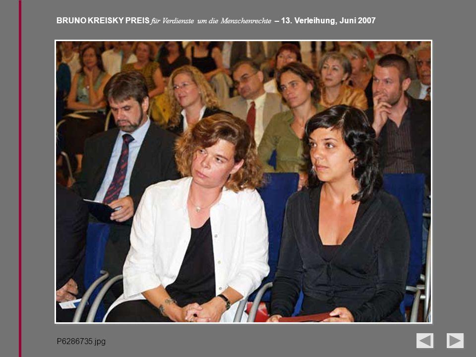 BRUNO KREISKY PREIS für Verdienste um die Menschenrechte – 13. Verleihung, Juni 2007 P6286735.jpg