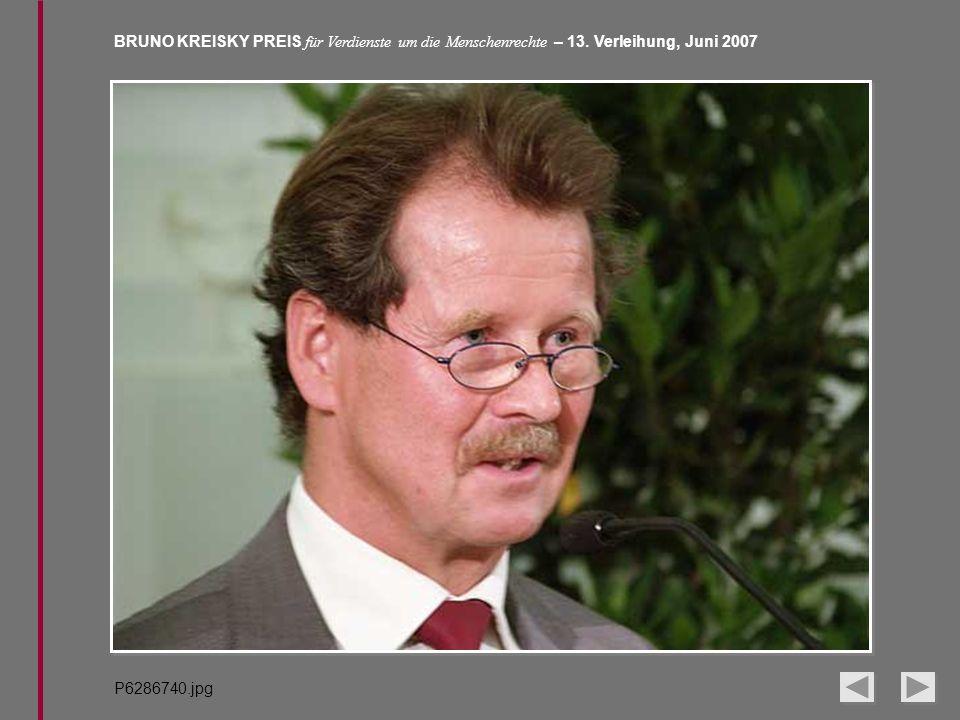 BRUNO KREISKY PREIS für Verdienste um die Menschenrechte – 13. Verleihung, Juni 2007 P6286740.jpg