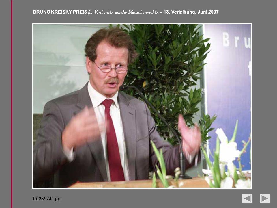 BRUNO KREISKY PREIS für Verdienste um die Menschenrechte – 13. Verleihung, Juni 2007 P6286741.jpg