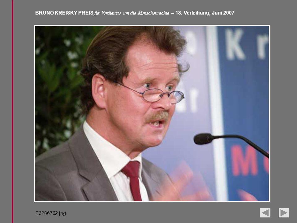 BRUNO KREISKY PREIS für Verdienste um die Menschenrechte – 13. Verleihung, Juni 2007 P6286762.jpg