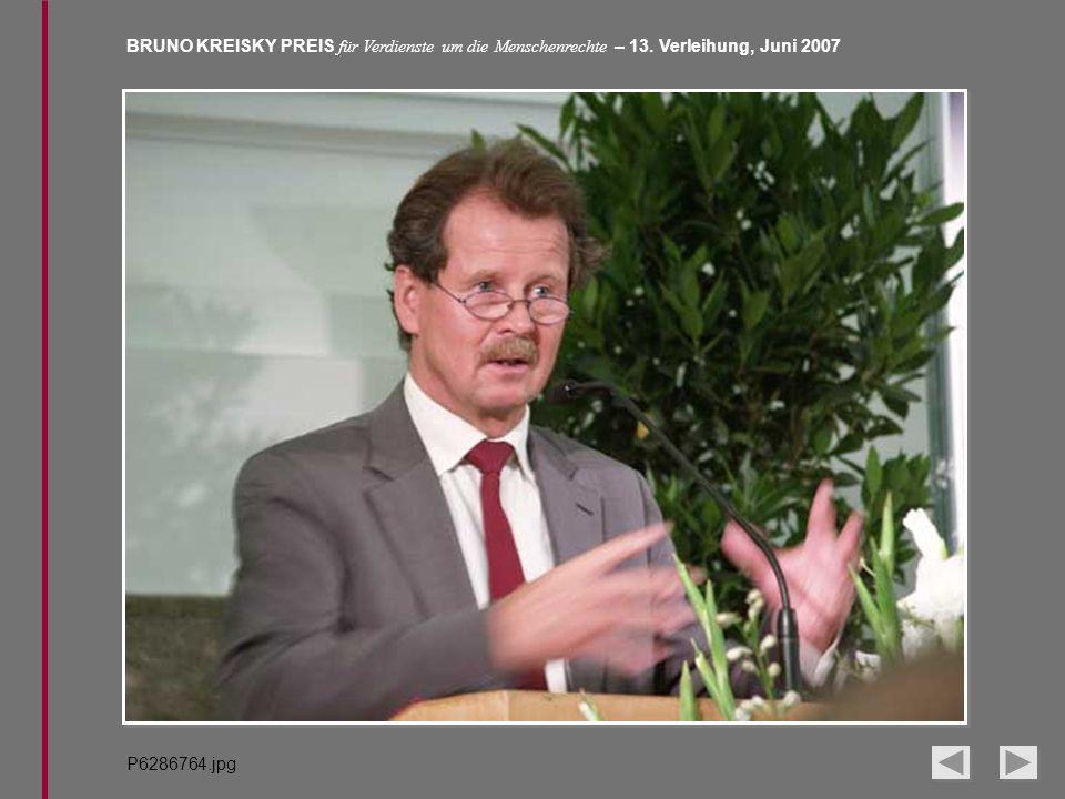 BRUNO KREISKY PREIS für Verdienste um die Menschenrechte – 13. Verleihung, Juni 2007 P6286764.jpg