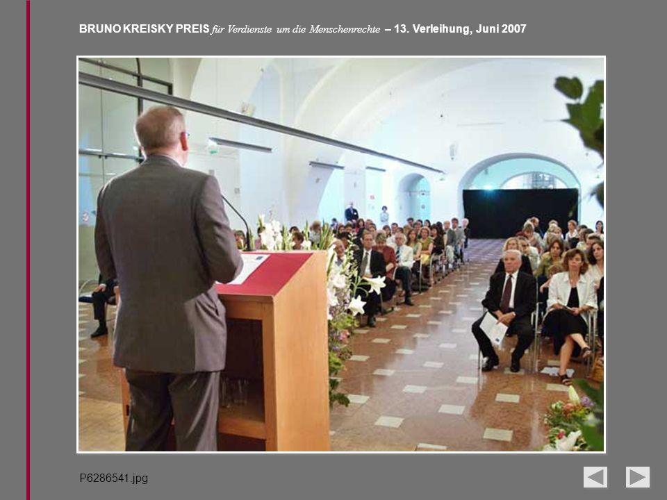 BRUNO KREISKY PREIS für Verdienste um die Menschenrechte – 13. Verleihung, Juni 2007 P6286541.jpg