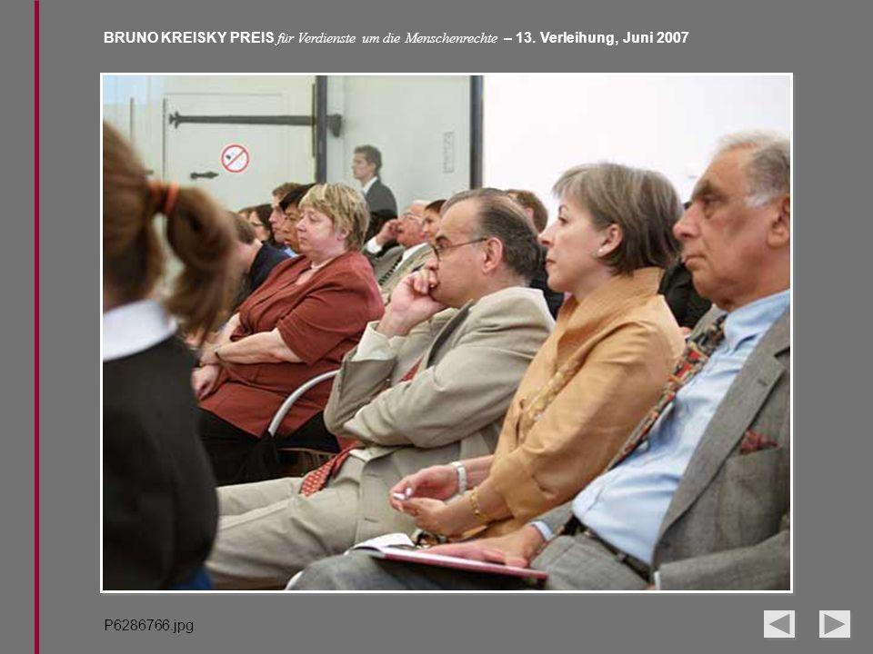 BRUNO KREISKY PREIS für Verdienste um die Menschenrechte – 13. Verleihung, Juni 2007 P6286766.jpg
