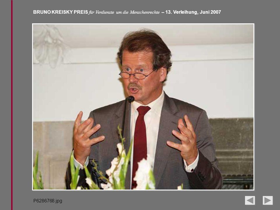 BRUNO KREISKY PREIS für Verdienste um die Menschenrechte – 13. Verleihung, Juni 2007 P6286768.jpg