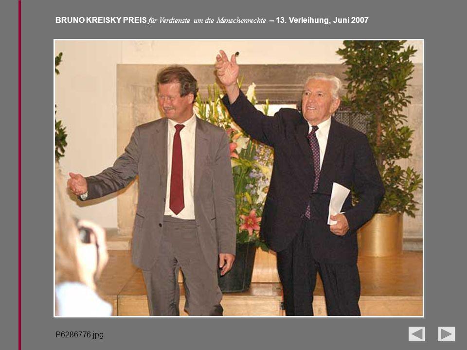 BRUNO KREISKY PREIS für Verdienste um die Menschenrechte – 13. Verleihung, Juni 2007 P6286776.jpg