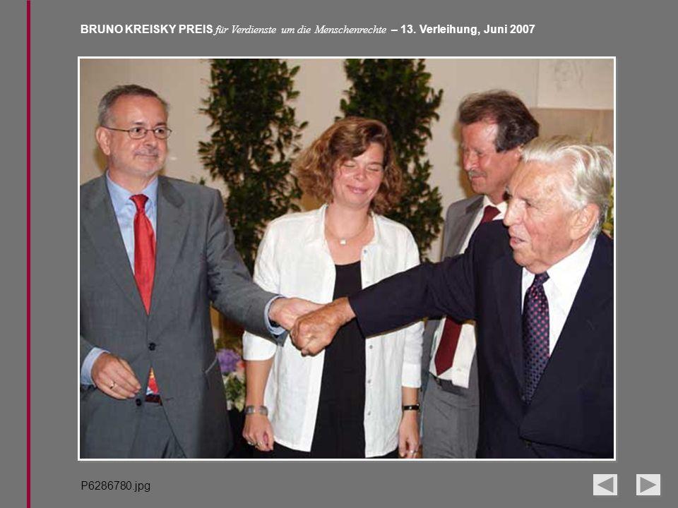 BRUNO KREISKY PREIS für Verdienste um die Menschenrechte – 13. Verleihung, Juni 2007 P6286780.jpg