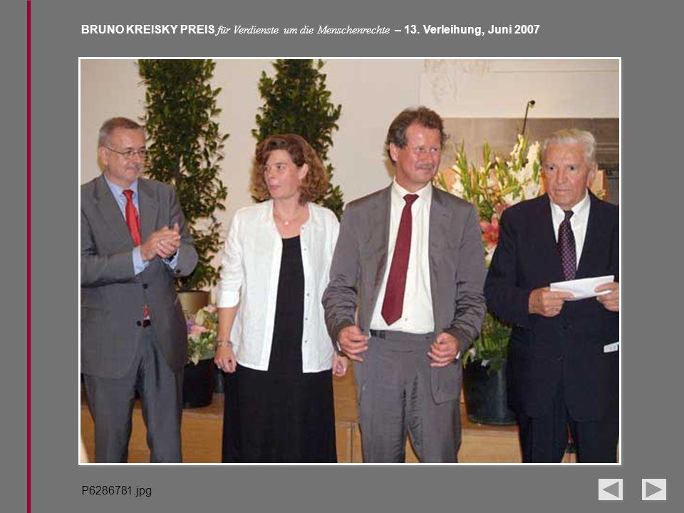 BRUNO KREISKY PREIS für Verdienste um die Menschenrechte – 13. Verleihung, Juni 2007 P6286781.jpg