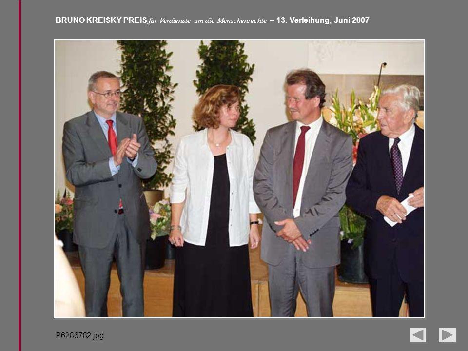 BRUNO KREISKY PREIS für Verdienste um die Menschenrechte – 13. Verleihung, Juni 2007 P6286782.jpg