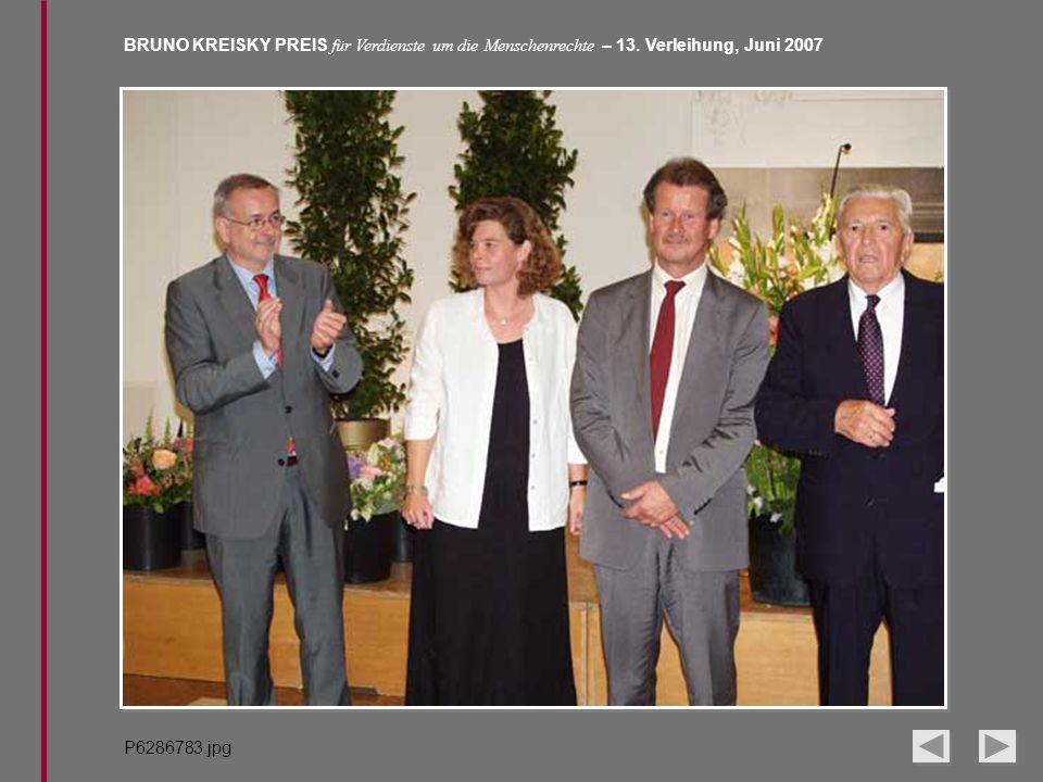BRUNO KREISKY PREIS für Verdienste um die Menschenrechte – 13. Verleihung, Juni 2007 P6286783.jpg