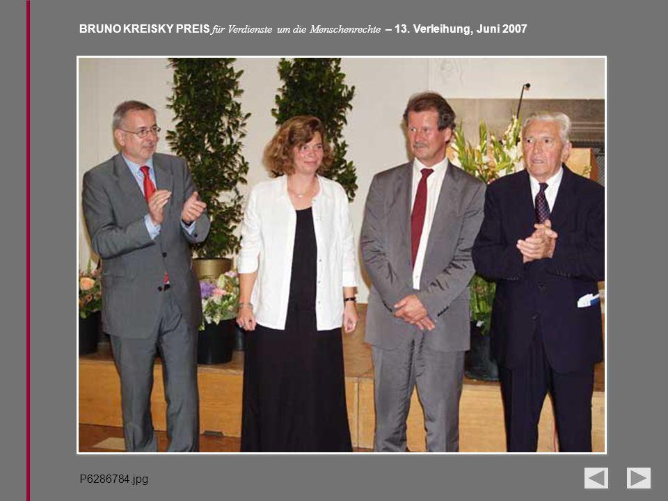 BRUNO KREISKY PREIS für Verdienste um die Menschenrechte – 13. Verleihung, Juni 2007 P6286784.jpg