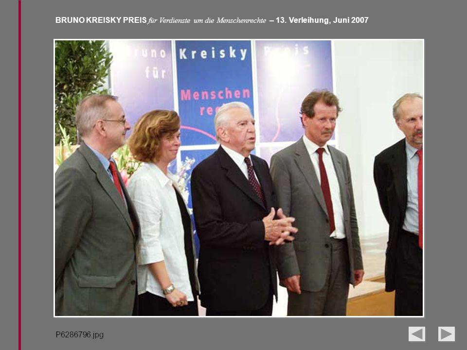 BRUNO KREISKY PREIS für Verdienste um die Menschenrechte – 13. Verleihung, Juni 2007 P6286796.jpg