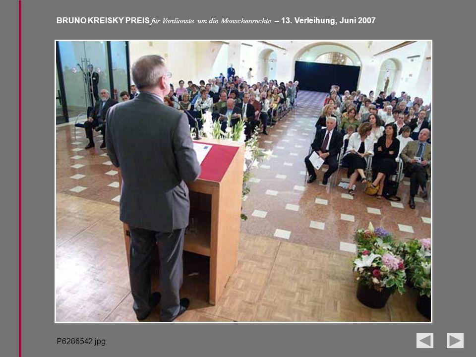BRUNO KREISKY PREIS für Verdienste um die Menschenrechte – 13. Verleihung, Juni 2007 P6286542.jpg